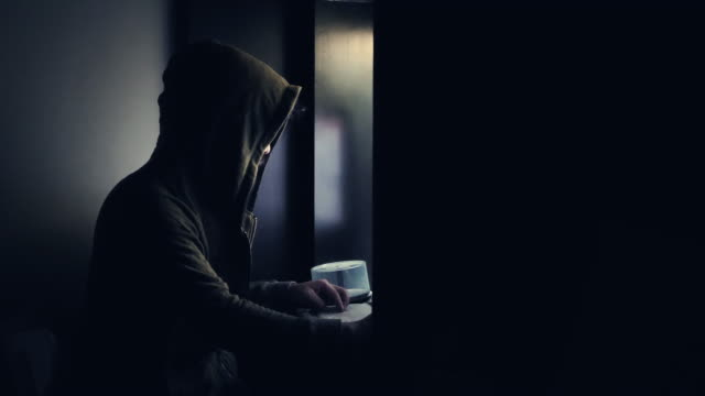 hacker in the dark - criminal stock videos & royalty-free footage