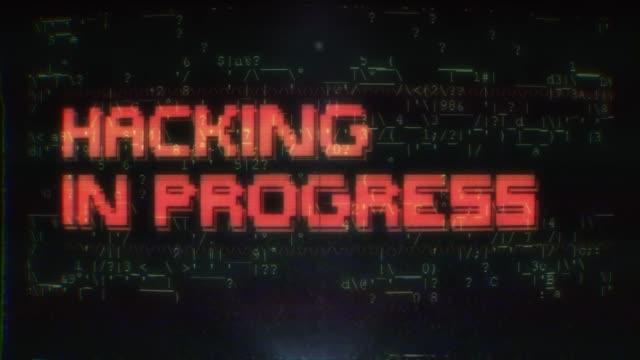 Hacker programming code on computer screen