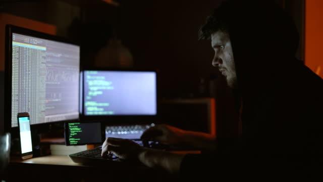 hacker - hooded top stock videos & royalty-free footage