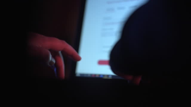 hacker's hands using laptop - 45 49 years stock videos & royalty-free footage