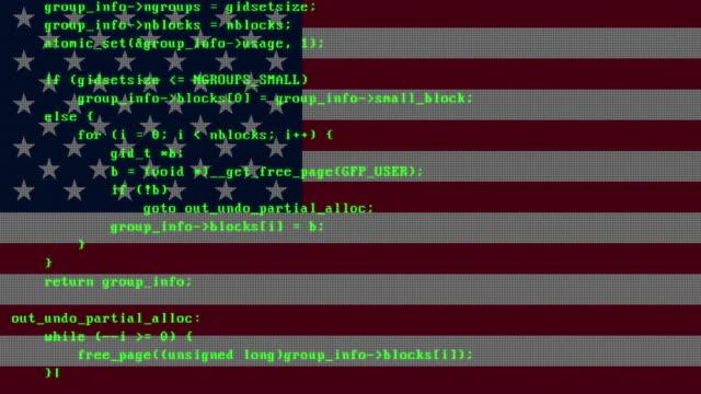 hacking-code wird auf pc-digital-monitor-bildschirm mit argentinien-flagge im hintergrund eingegeben - argentinische flagge stock-videos und b-roll-filmmaterial
