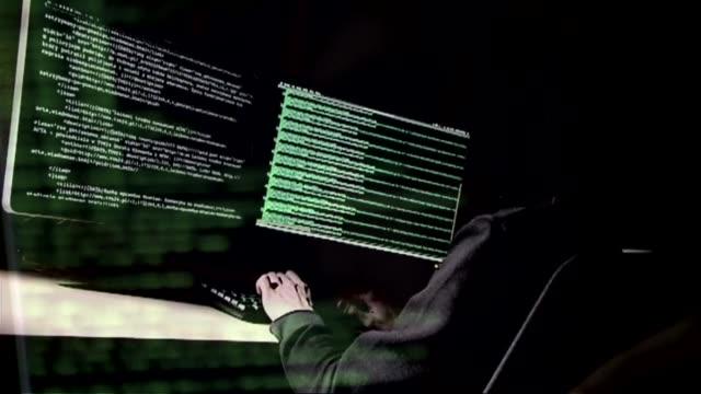 vídeos y material grabado en eventos de stock de hacking - delito informático