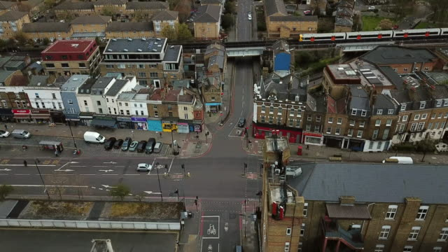 hackney aerial view - aerial view stock videos & royalty-free footage