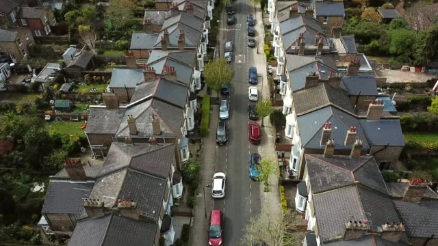 hackney aerial view - residential district stock videos & royalty-free footage
