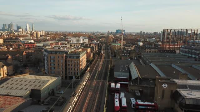hackney aerial view - hackney stock videos & royalty-free footage