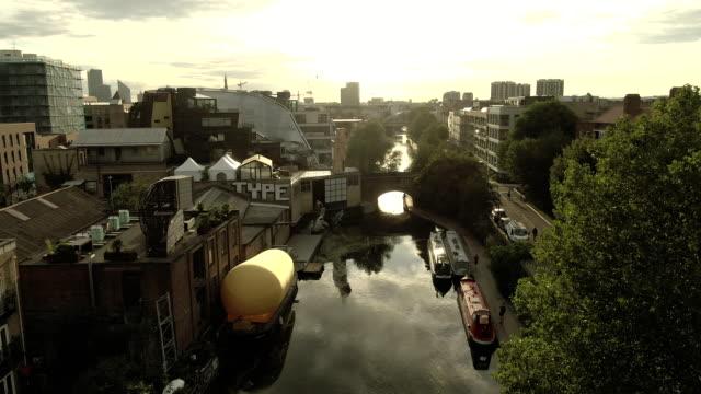 hackney canal - hackney stock videos & royalty-free footage