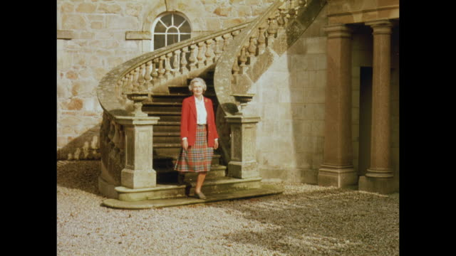 1981 haddo house, scotland - aberdeen schottland stock-videos und b-roll-filmmaterial