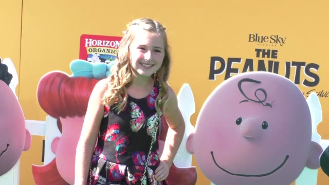 Hadley Belle Miller at The Peanuts Movie Premiere at Regency Village Theatre in Westwood on November 01 2015 in Los Angeles California