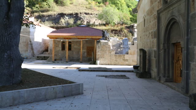 Haghartsin monastery, courtyard between the churches