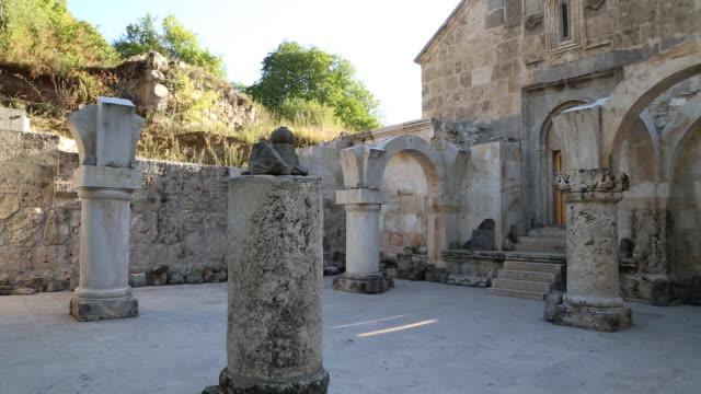 vidéos et rushes de haghartsin monastery, the vestibule of saint astvatsatsin church - xiième siècle