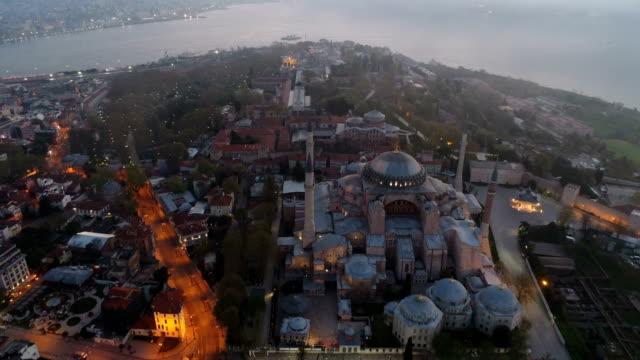 hagia sofia and blue mosque - 3 - ramadan stock videos & royalty-free footage