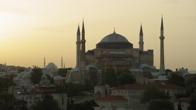 hagia sophia in istanbul turkey - hagia sophia istanbul stock videos & royalty-free footage