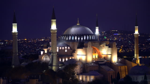 Hagia Sophia - ( Ayasofya Cami ) in the night. Istanbul - Turkey