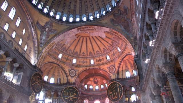 hagia sophia, istanbul, turkey - hagia sophia istanbul stock videos & royalty-free footage