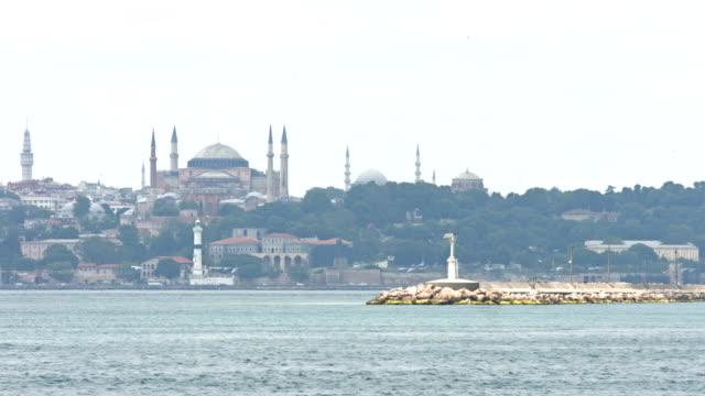 4k: hagia sophia, istanbul, turkey - minaret stock videos & royalty-free footage
