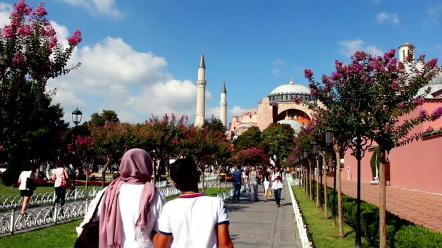 vídeos de stock e filmes b-roll de santa sofia, em istambul, turquia - médio oriente