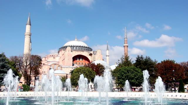 hagia sophia , istanbul, turkey - minaret stock videos & royalty-free footage