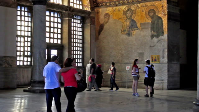 hd: hagia sophia, istanbul, turkey - inside of stock videos & royalty-free footage