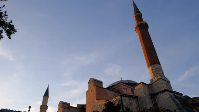 hagia sophia mosque istanbul turkey - blue mosque stock videos & royalty-free footage
