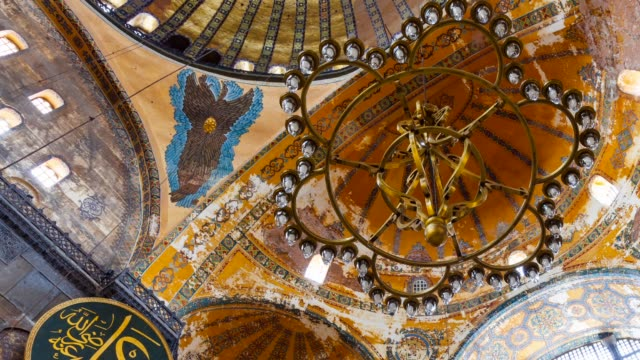 hagia sophia mosque - hagia sophia istanbul stock videos & royalty-free footage
