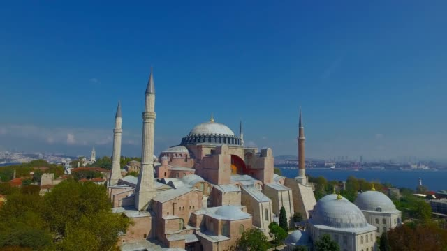 hagia sophia - basilica video stock e b–roll