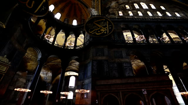 vidéos et rushes de basilique sainte-sophie - istanbul