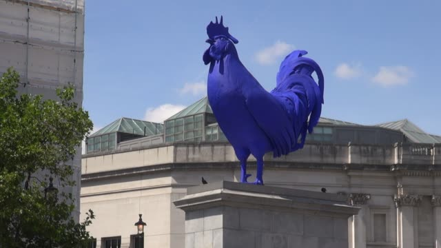 Hahn/Cock is a sculpture of a giant blue cockerel by the German artist Katharina Fritsch It was unveiled in London's Trafalgar Square on 25 July 2013...