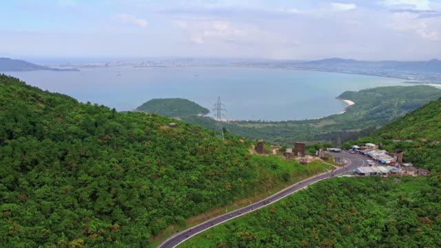 av hai van pass and linh ung pagoda - pagoda stock videos & royalty-free footage