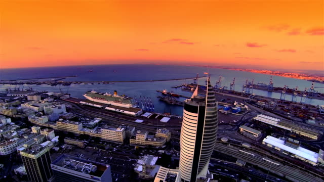 Haifa city port  Aerial view