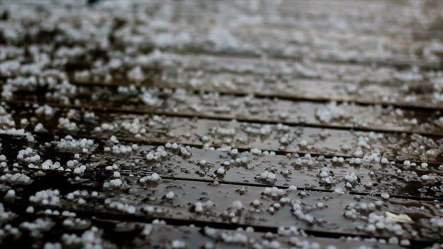 hail closeup on a deck-hd - high contrast stock videos & royalty-free footage
