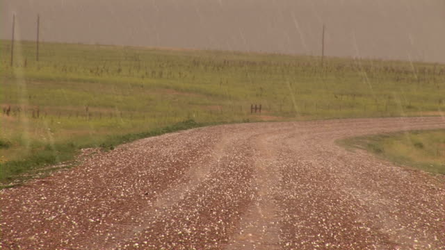 hail stones falling - south dakota stock videos and b-roll footage