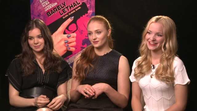 hailee steinfeld, sophie turner & dove cameron on if high school really is harder than espionage, training & physicality of the roles & female... - missions of california film title stock videos & royalty-free footage