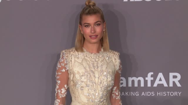 hailey baldwin at the 20th annual amfar gala new york at cipriani wall street on february 07 2018 in new york city - hailey rhode bieber stock videos & royalty-free footage