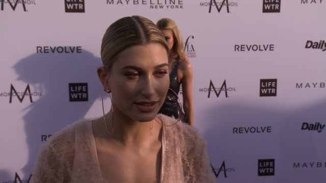 interview hailey baldwin on the event at the daily front row fashion los angeles awards 2017 in los angeles ca - interview stock videos & royalty-free footage