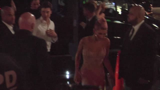 hailey baldwin shawn mendes arrive at a met gala after party in new york city in celebrity sightings in new york - hailey rhode bieber stock videos & royalty-free footage