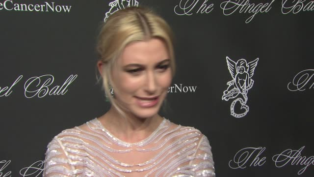 interview hailey baldwin talks about her father telling her about the angel ball at 2014 angel ball benefitting gabrielle's angel foundation for... - interview stock videos & royalty-free footage