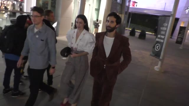 vidéos et rushes de hailey gates leaves the uncut gems premiere at arclight cinemas in hollywood in celebrity sightings in los angeles, - arclight cinemas hollywood