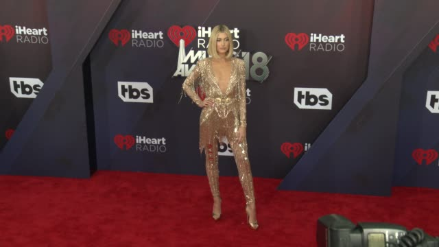 hailey rhode baldwin at the 2018 iheartradio music awards at the forum on march 11 2018 in inglewood california - hailey rhode bieber stock videos & royalty-free footage