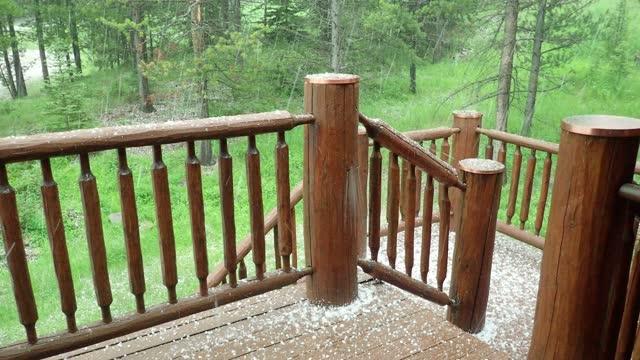 hailstorm - montana western usa stock videos & royalty-free footage