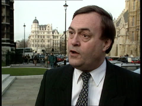 hain alleges break-ins at offices of mps; ext john prescott mp along street towards cms john prescott mp intvwd sof - i'm very suspicious/ the disc... - creation stock videos & royalty-free footage