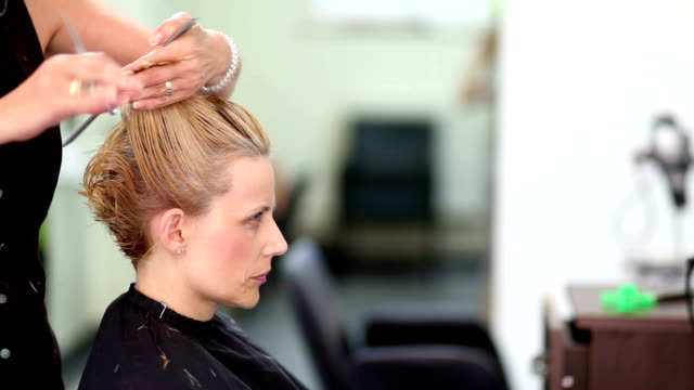 hair cut - beauty salon stock videos and b-roll footage