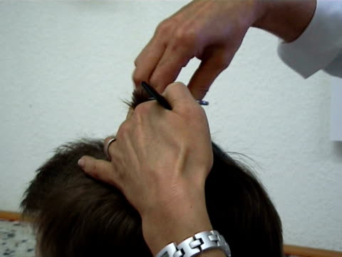 hair cut - shaving stock videos and b-roll footage