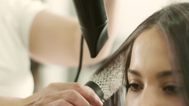 hair drying - hairstyle stock videos & royalty-free footage