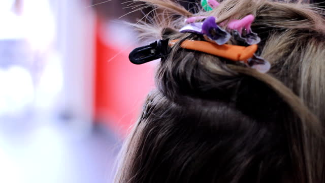 hair extensions tilt down - hair accessory stock videos and b-roll footage