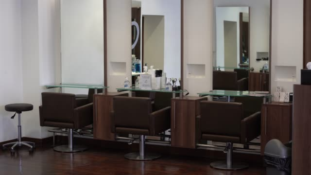 hair salon prepares to reopen following lockdown closures on july 3 2020 in london england hairdressers across england prepare to reopen following... - cooker stock videos & royalty-free footage