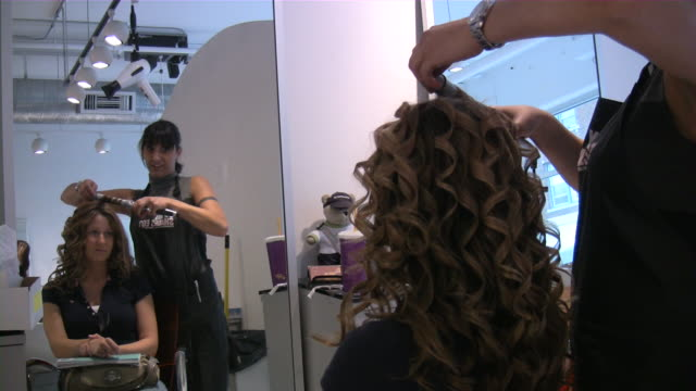 hair salon - beauty salon stock videos and b-roll footage