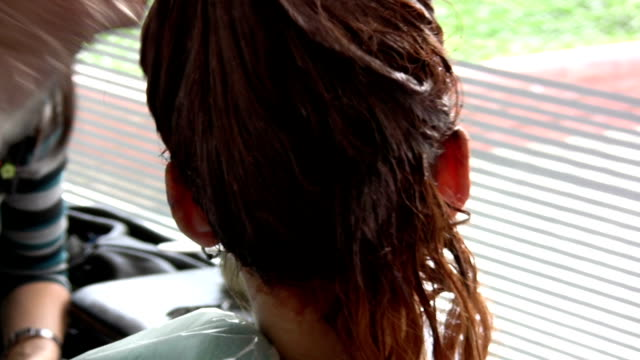 hair salon - highlights hair stock videos & royalty-free footage
