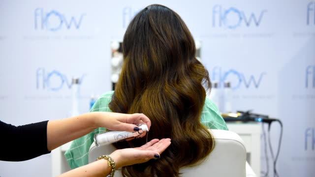 toronto ontario september 10 hair styling at 2019 toronto international film festival portrait studio at intercontinental hotel on september 10 2019... - intercontinental hotels group stock videos & royalty-free footage