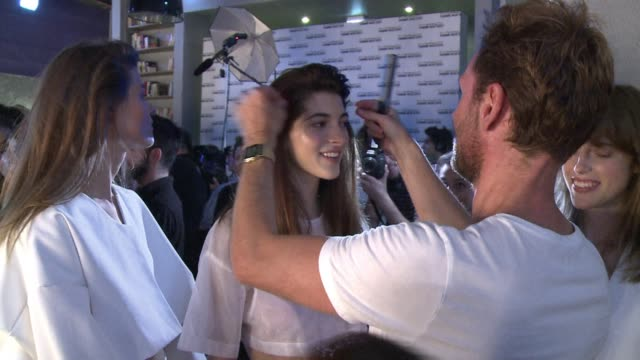hair stylist to the stars stephane bodin has given a short back and sides to the biggest names on the planet now he brings his talents to paris... - hair back stock videos & royalty-free footage