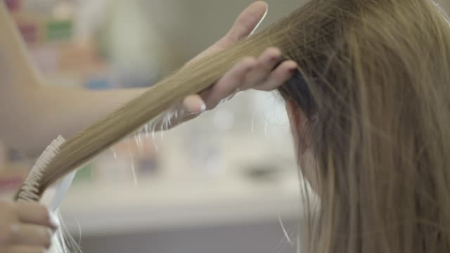 hair treatment - hair treatment stock videos and b-roll footage